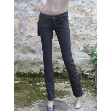 Jeans marron taille basse