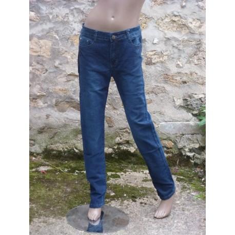 Jeans bleu marine taille haute