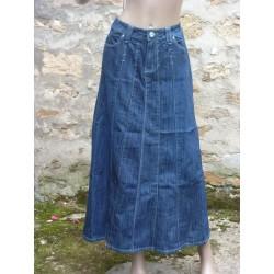 Jupe jeans longue