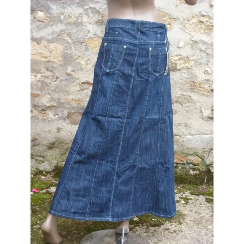 Jupe jean longue - familian 7fea2221a4fd