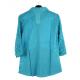 Chemise grande taille en dentelle bleu turquoise