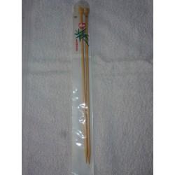 Aiguilles à Tricoter en Bambou 33 Cm N° 6 mm