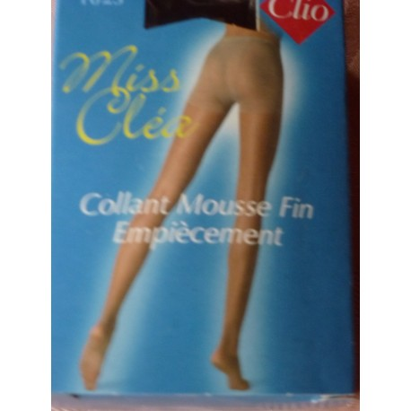 Collant mousse fin empiècement