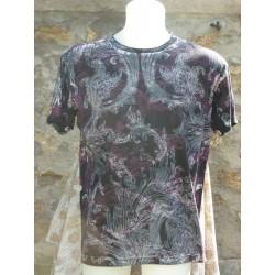 T-Shirt avec ramages devant et dans le dos