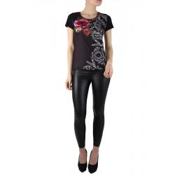 T-Shirt imprimé Rose noir