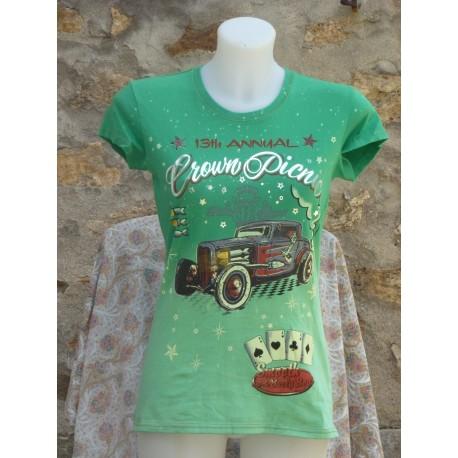 T-Shirt voiture avec quatre as en bas