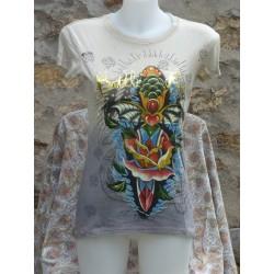 T-Shirt poignard et autres dessins devant