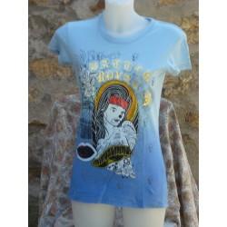 T-Shirt portrait de profil de femme devant