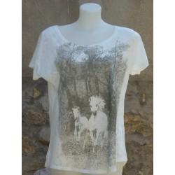 T-Shirt chevaux aux gâlots