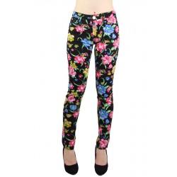 Pantalon Skinny Imprimé Lys et Noir